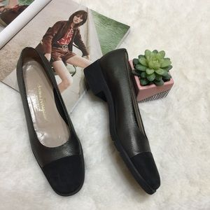 Salvatore Ferragamo Black Boutique Flats